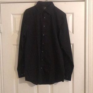 Black men's dress shirt